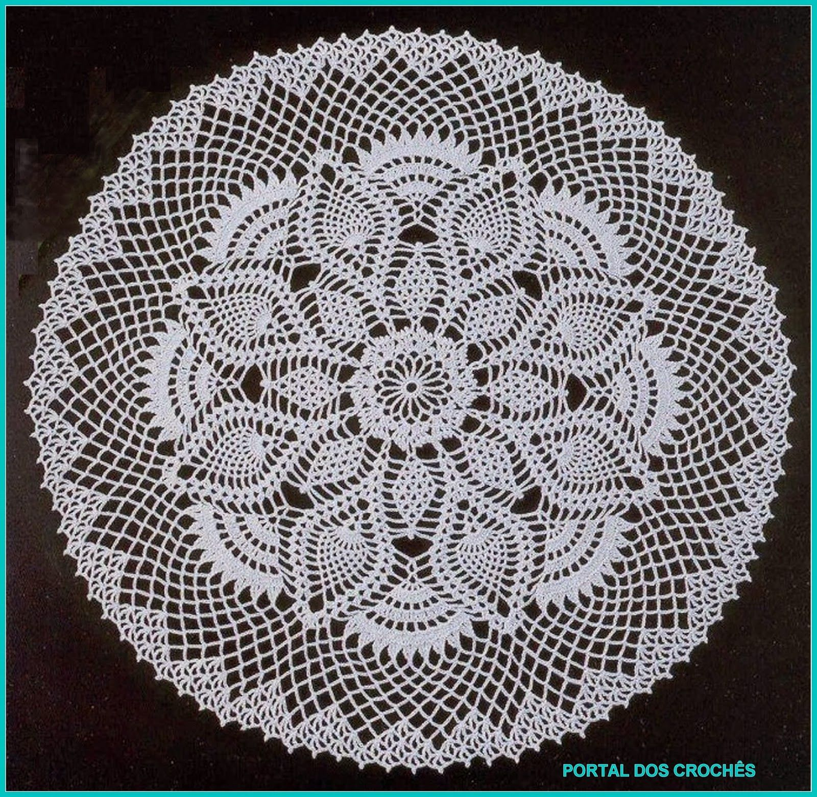 Pineapple Crochet Doily Diagram 2002 Mercury Mountaineer Wiring Centros Redondos Com Abacaxis 39s Runner