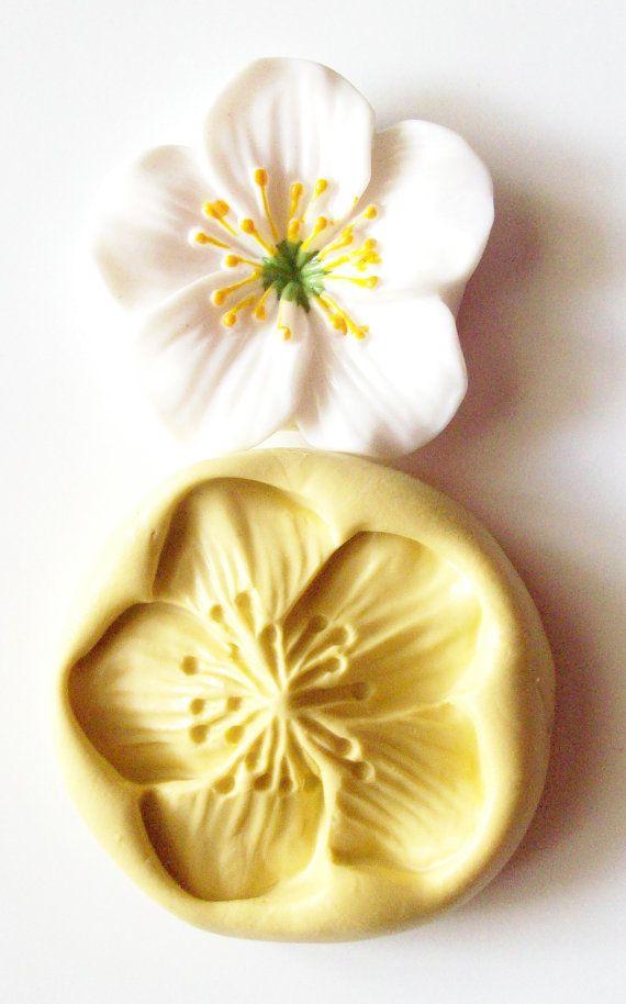 Silicone mould- food use fimo silicone mold resin etc PLUMERIA