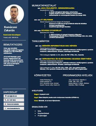 önéletrajz minta profession CV minta | önéletrajz minta önéletrajz minta profession