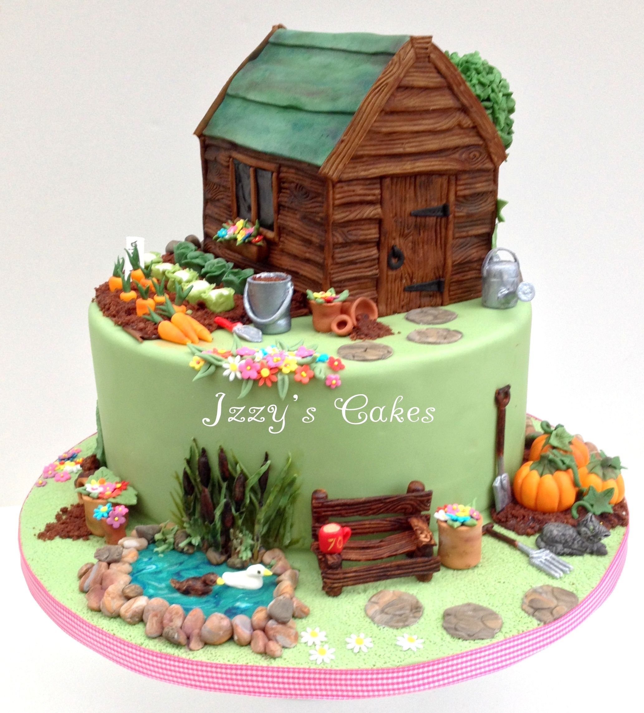 Pin by Jill Shaw on Creative cakes | Pinterest | Garden cakes, Cake ...