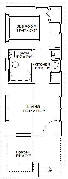 12x28 Tiny House 12x28h1a 336 Sq Ft Excellent Floor Plans Tiny House Floor Plans Plans Tiny Tiny House Plans