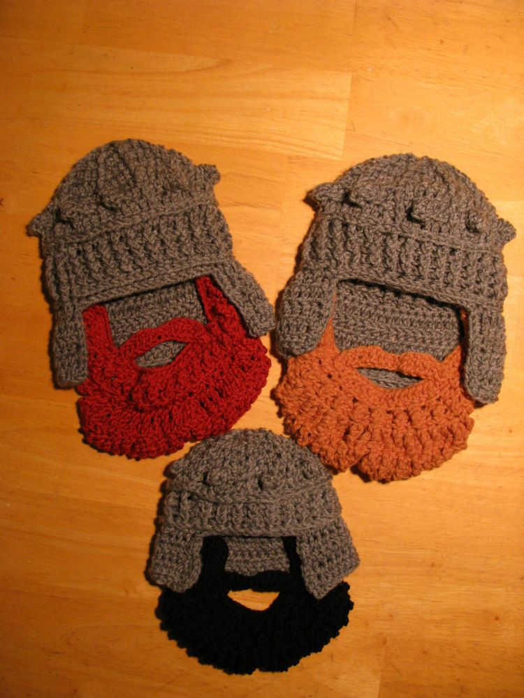 Medieval Inspired Helmet Crochet Hat And By