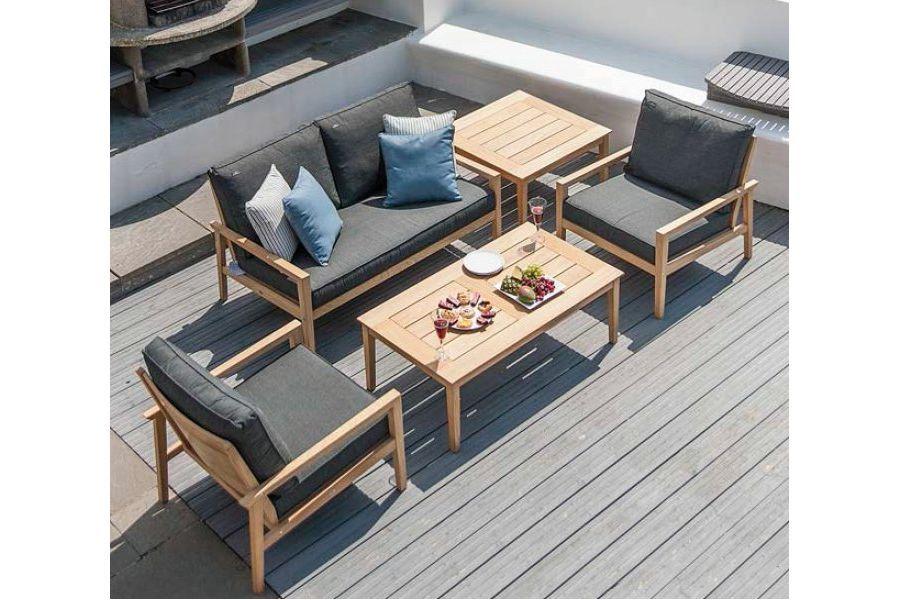 redoutable salon de jardin bois gris | Décoration française | Pinterest