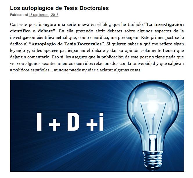 Los Autoplagios De Tesis Doctorales Tesis Doctoral Tesis Investigacion Cientifica
