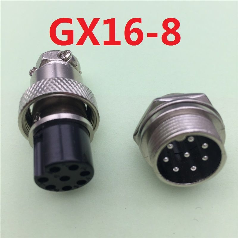 1 Unidades GX16 8 Pin Male & Female Diámetro 16mm Cable L76 de Panel Conector GX16 Conector Circular Enchufe del Zócalo de la Aviación Del Envío gratis