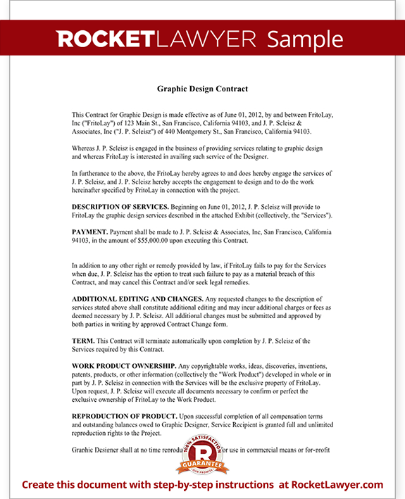 free graphic design contract