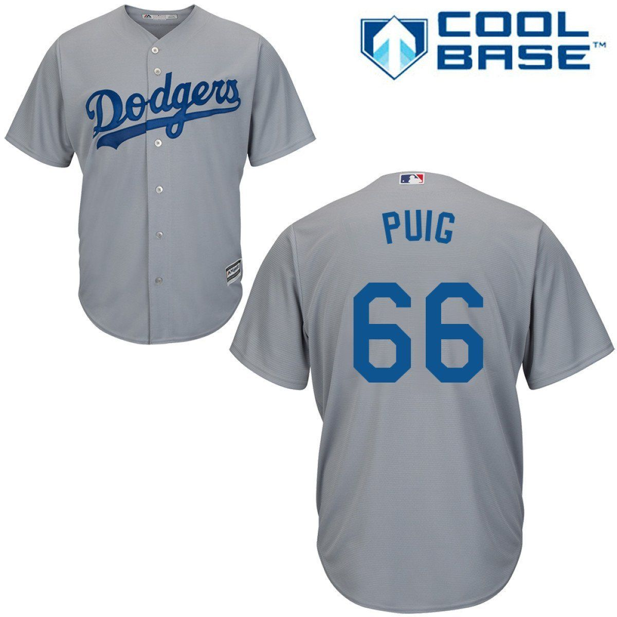 brand new da18b fc53c Yasiel Puig Los Angeles Dodgers #66 MLB Men's Cool Base ...