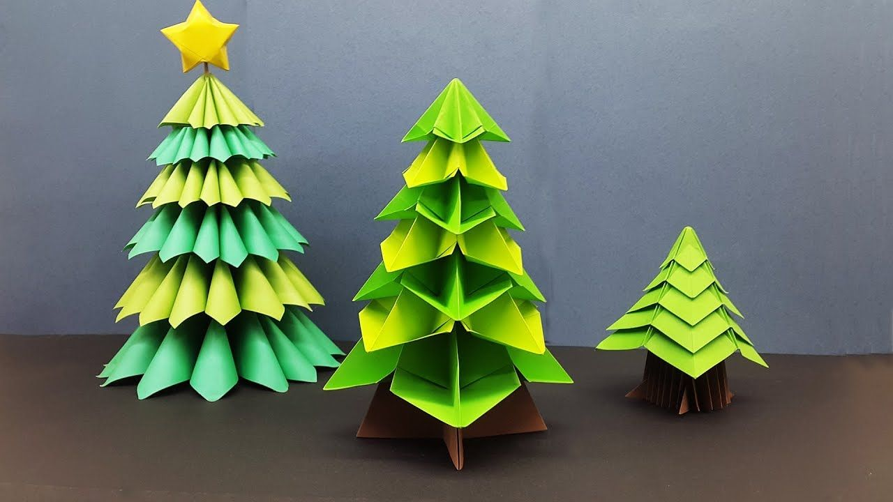 Diy Mini Christmas Tree Out Of Paper How To Make 3d Origami Christmas Tree Bored Panda Christmas Origami Origami Christmas Tree Mini Christmas Tree