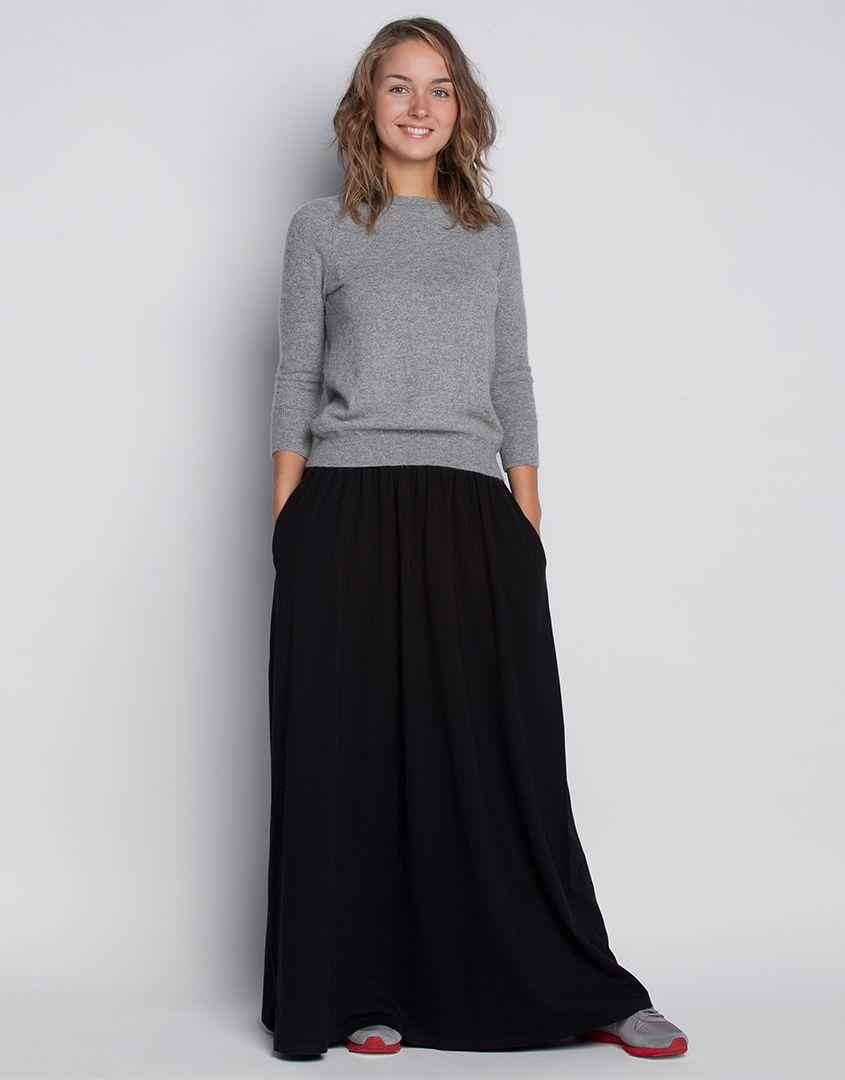 211d8a87c9a Длинная юбка с карманами