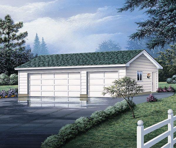 Garage Plan chp-17570 at COOLhouseplans.com