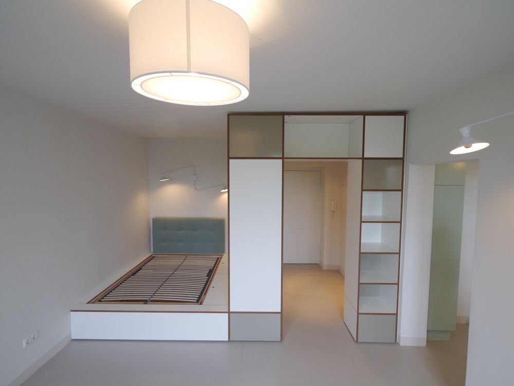 Introducing: our designers Rhea & Janna from Berlin. Design for a small apartment. Made to measure solution.