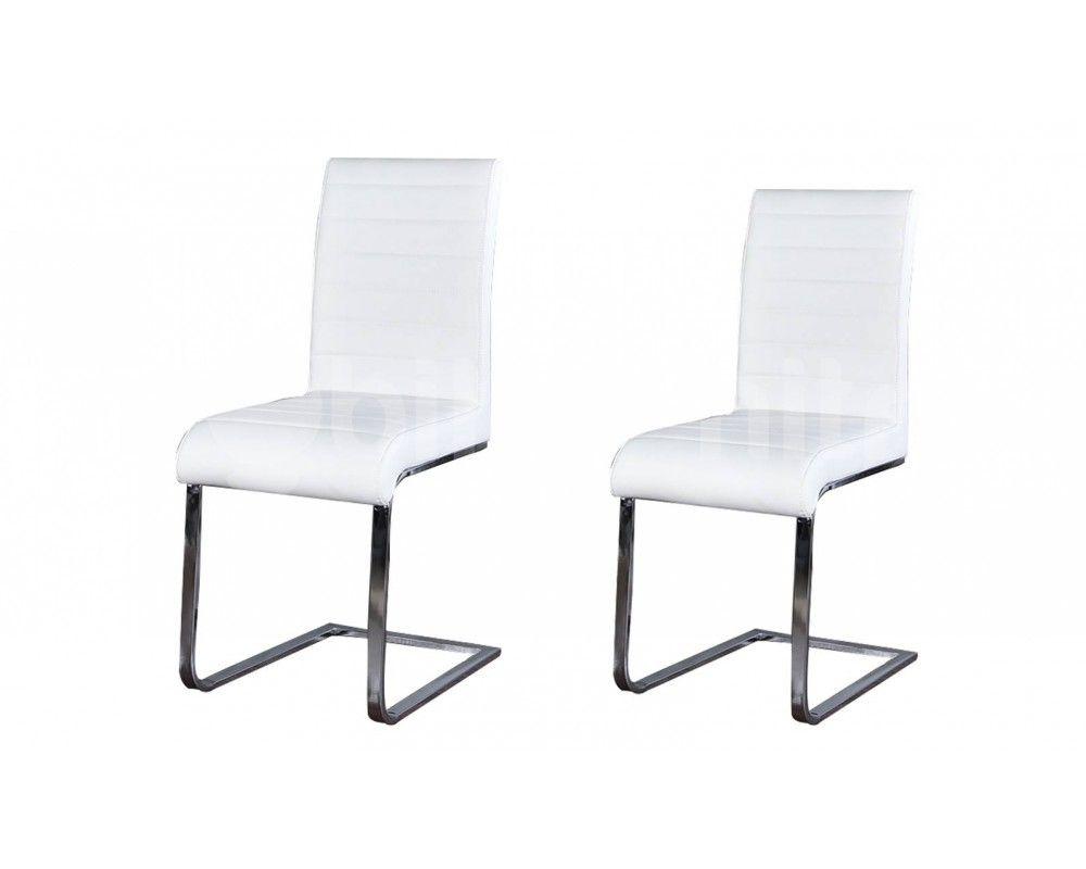 Etonnant Chaise Cuir Blanc