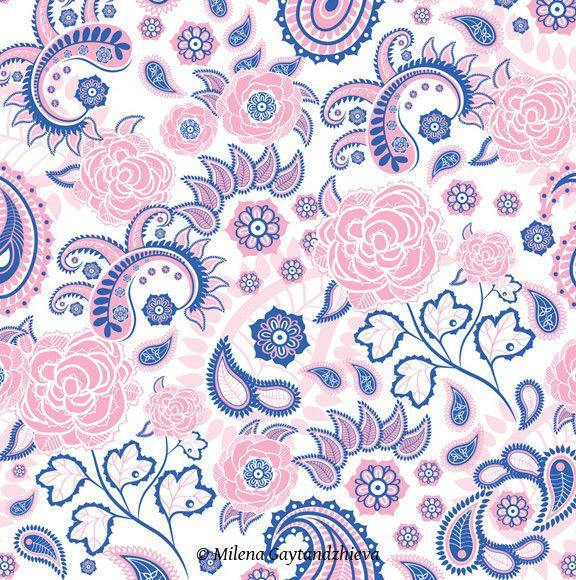 Paisley design by Milena Gaytandzhieva, via Behance