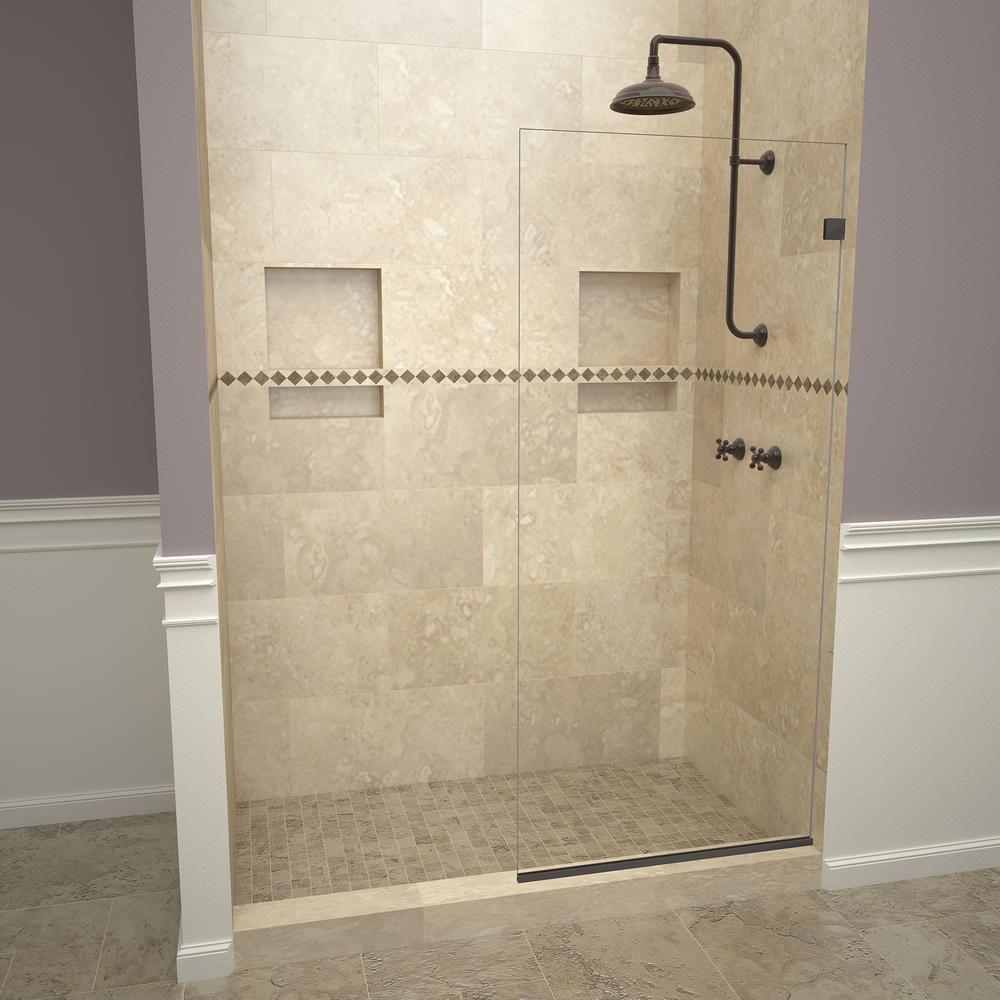 Redi Screen 2000v Series 36 In W X 76 In H Semi Frameless Fixed Shower Door