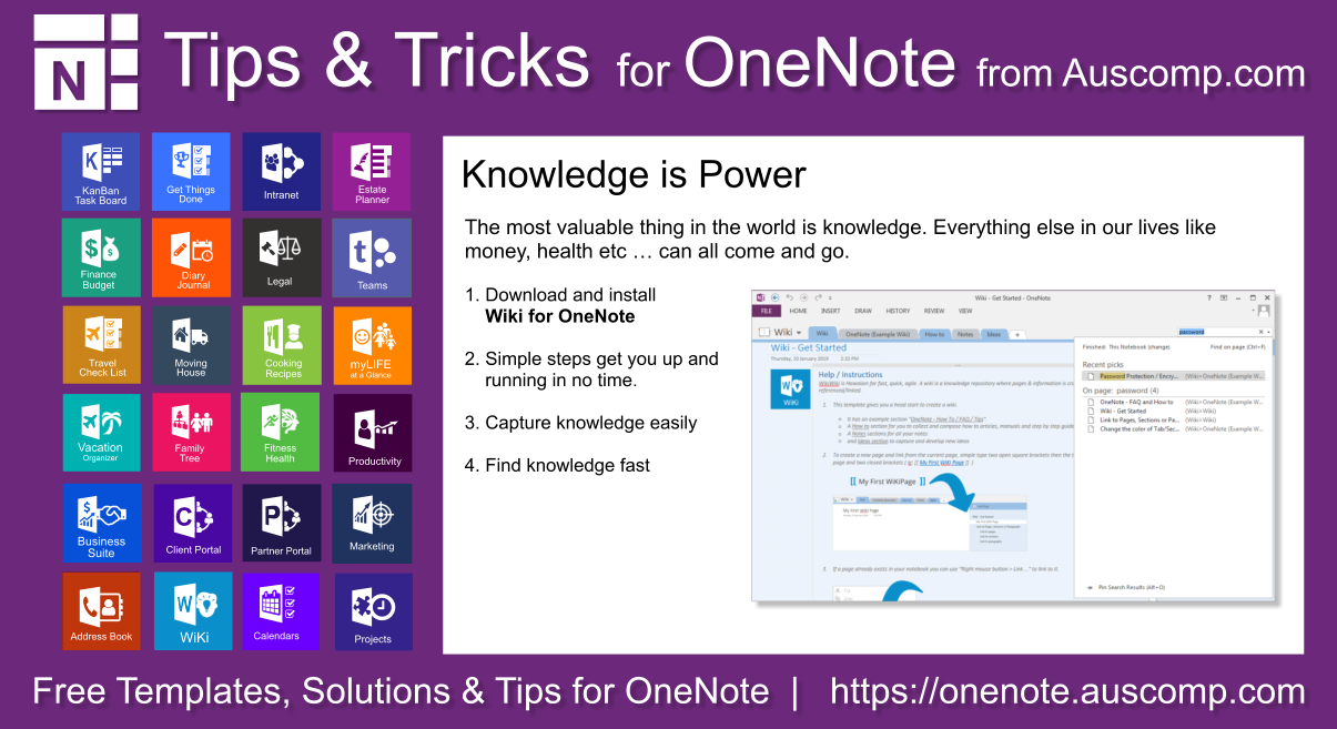 Tips And Tricks For Onenote Users Create Your Own Wiki Using