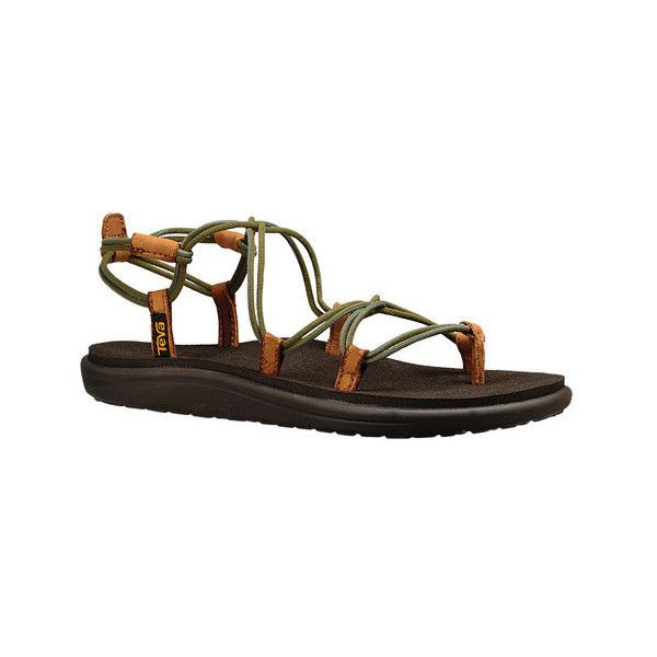 Women's Teva Voya Infinity Strappy Sandal ($40) ❤ liked on Polyvore  featuring shoes,