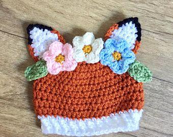 Crochet fox hat 3b6a1826b48