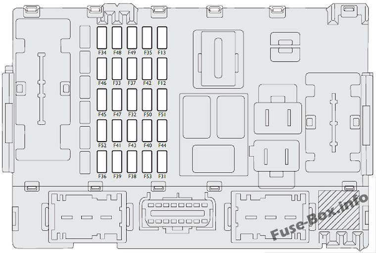 Instrument panel fuse box diagram: Fiat Linea (2007-2016