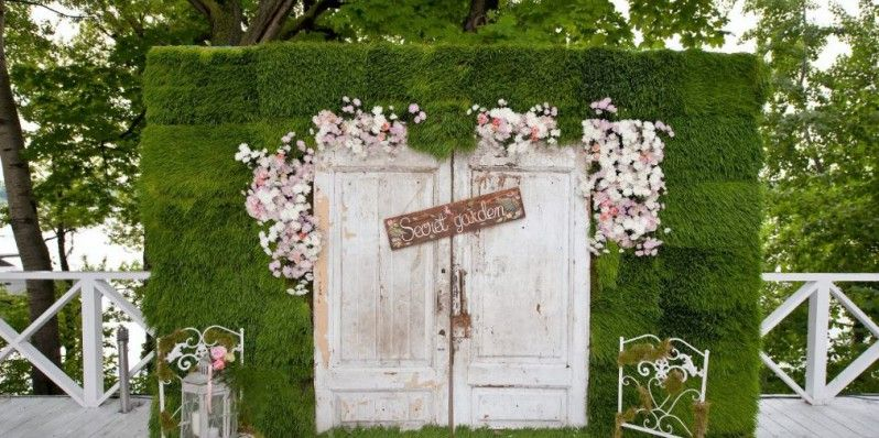 Country Outdoor Wedding Decoration Ideas Photo Booth