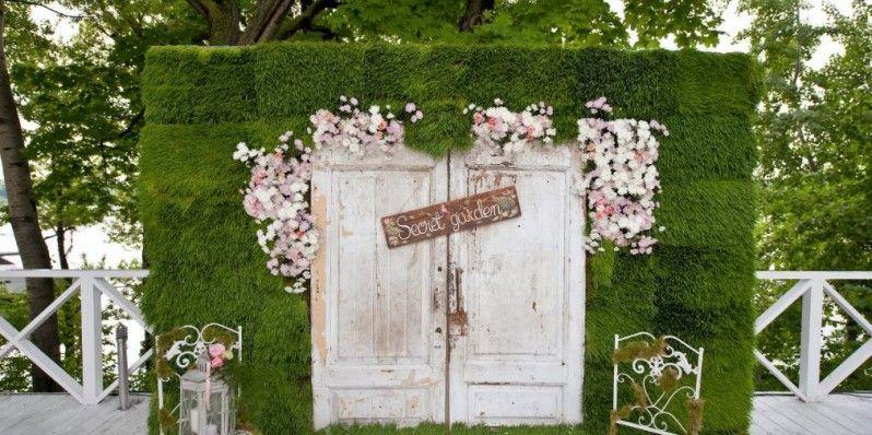 Country Outdoor Wedding Decoration Ideas. Photo Booth. Wedding Photo  Backdrop