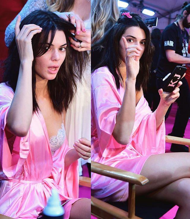 Nov 30th, 2016: @kendalljenner backstage at Victoria's Secret Fashion Show 2016 in Paris. {i} #kendalljenner #model #backstage #victoriasecrets #fashionshow #vsfashionshow #vsfashionshow2016 #makeup #hairstyle #style