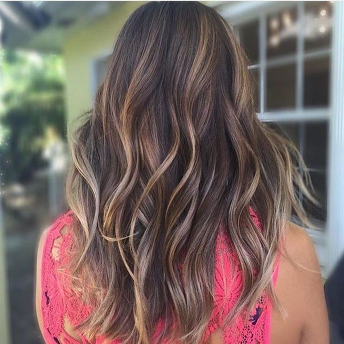 6 Hot Partial Highlights Ideas For Brunettes Hair And Make Up