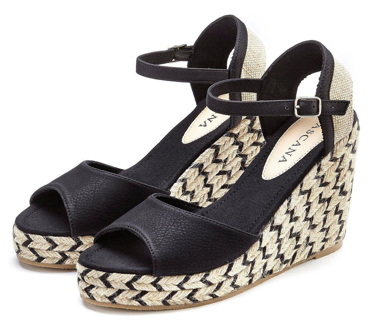 LASCANA High Heel Sandalette mit Keilabsatz im Ethno Look