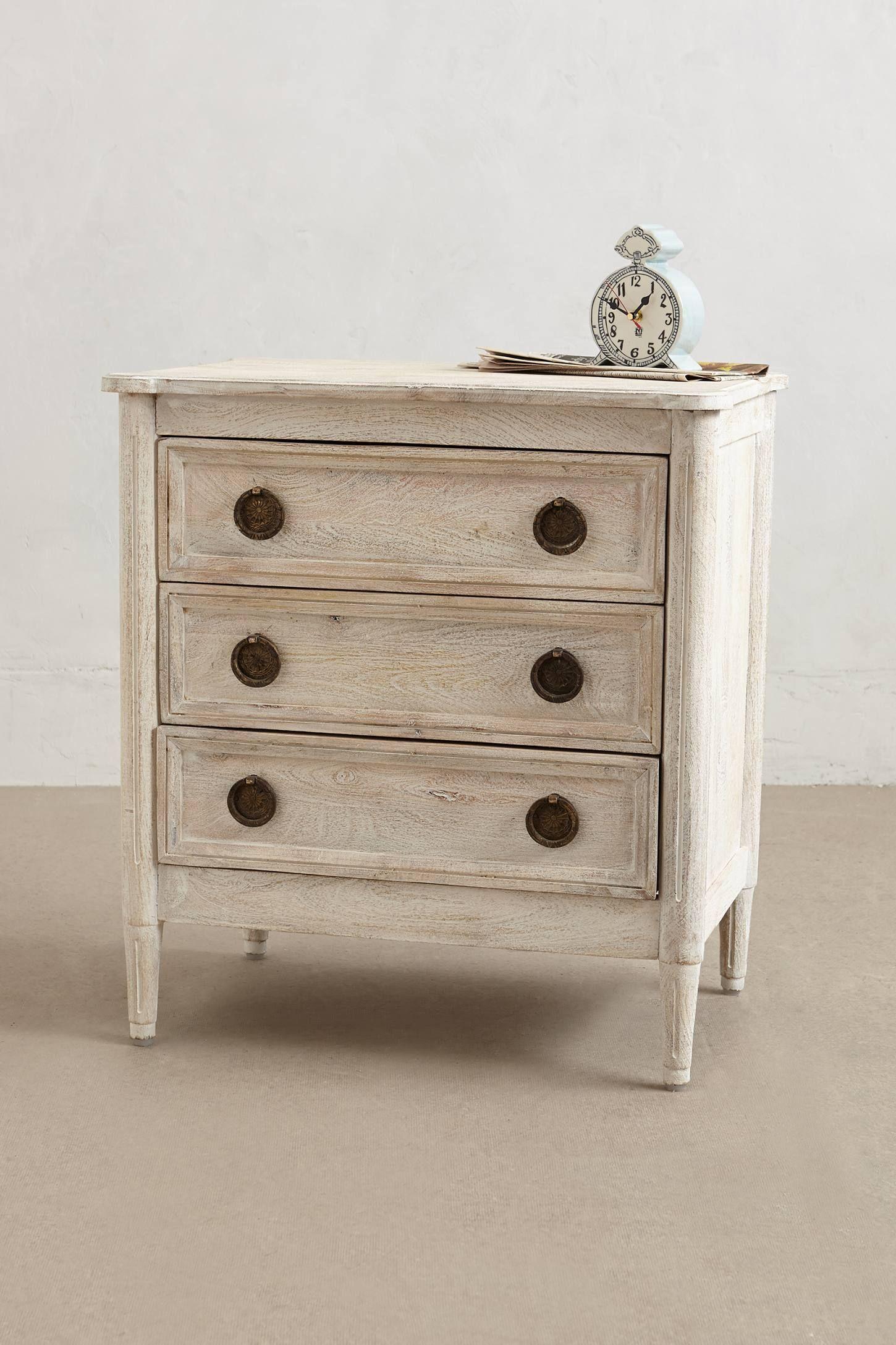 Washed wood threedrawer dresser wish list home edition