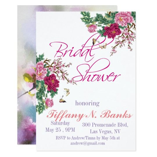 Watercolor floral romance bridal shower invitation wedding watercolor floral romance bridal shower invitation filmwisefo Choice Image