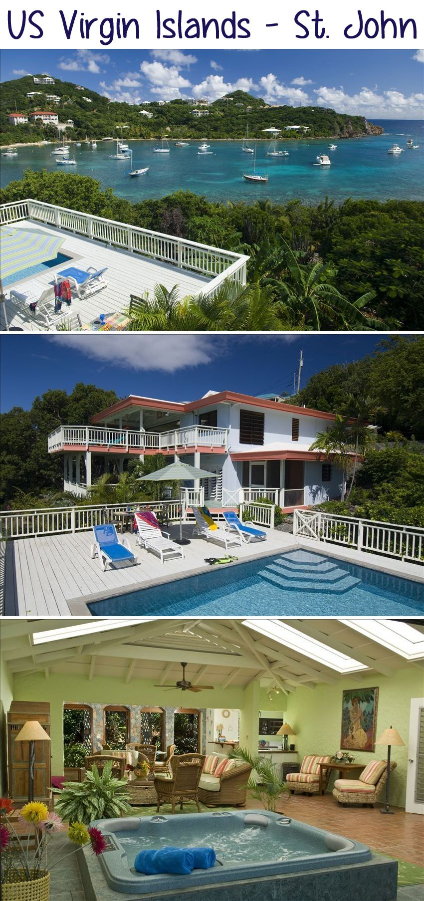 US Virgin Islands - St. John - WOW!! This #vacation villa looks absolutely incredible :) A little #ocean time sounds lovely right about now.