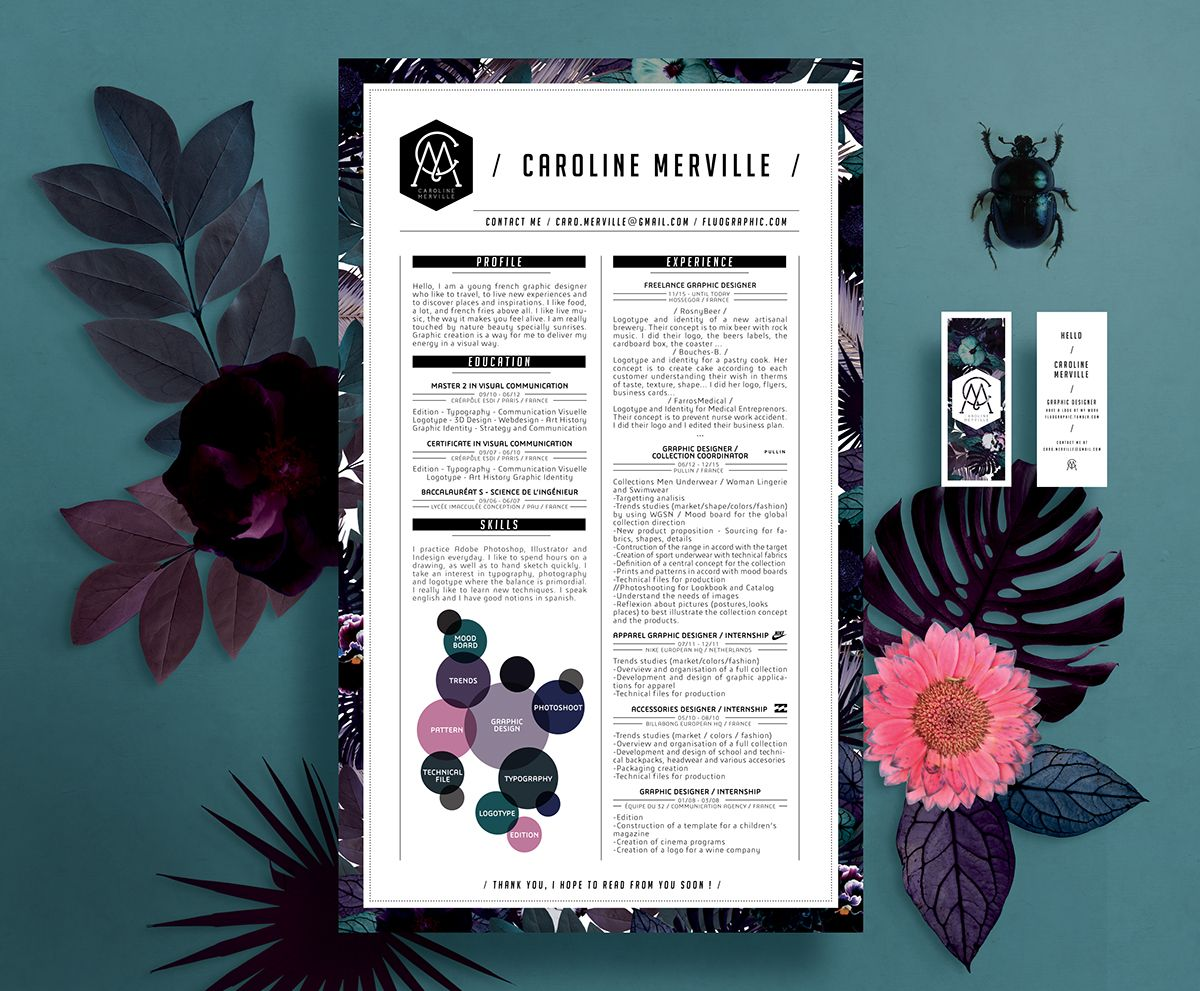 Compact, clean resume design that stands out For more