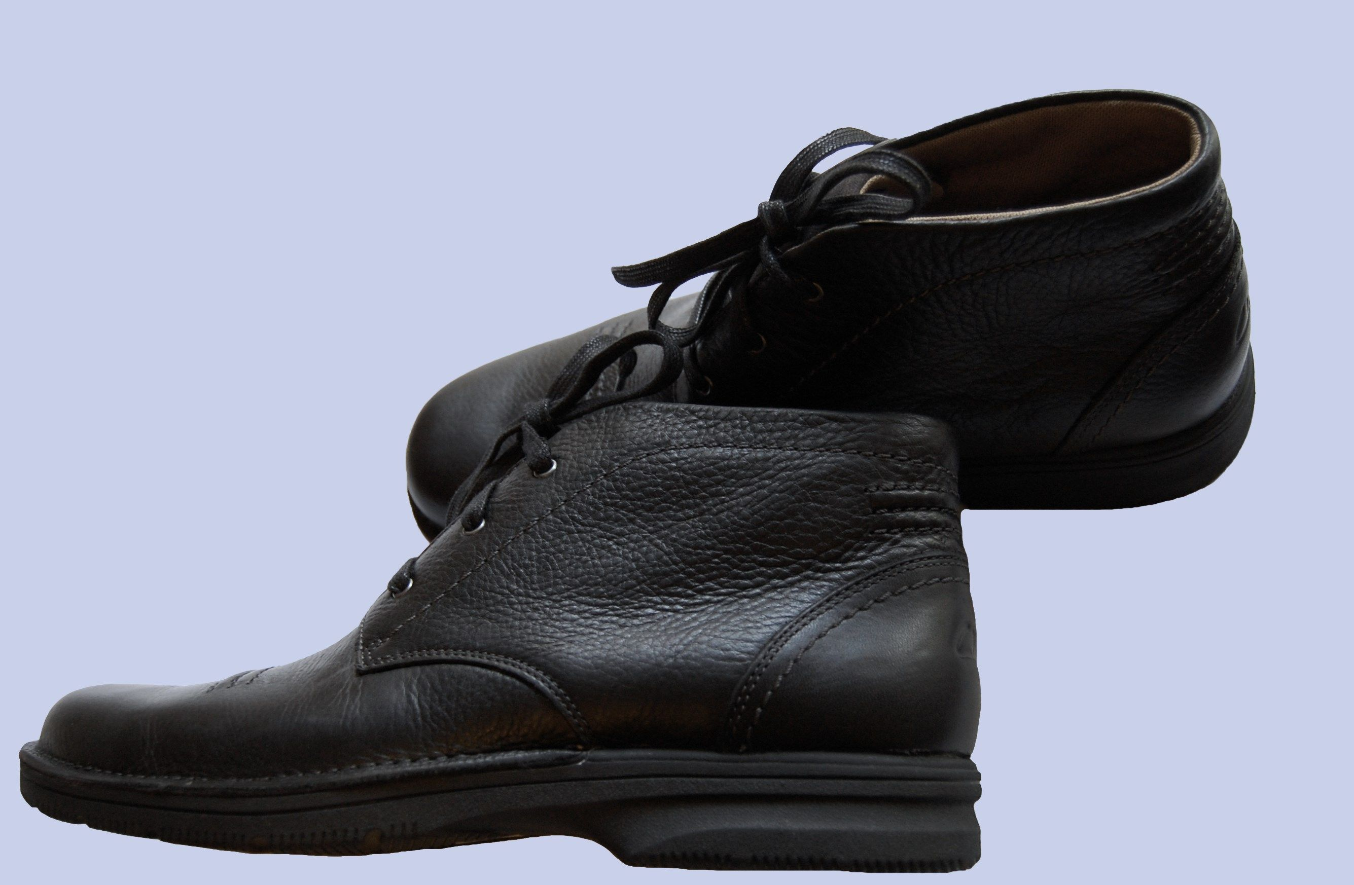 Clarks Senner Drive Mens Black Fashion Leather Boots