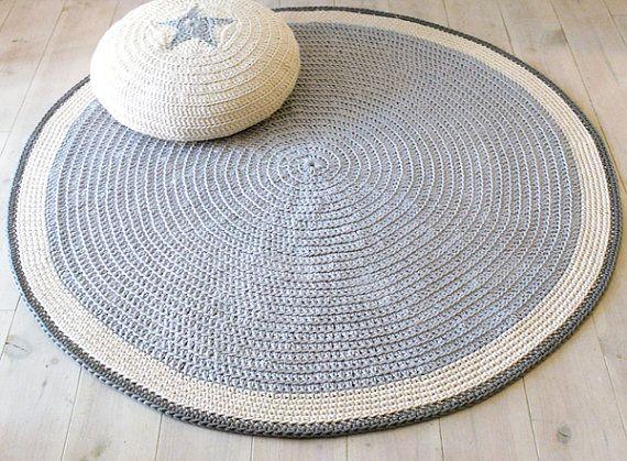 Runder teppich boden häkeln 100cm von lacasadecoto auf etsy