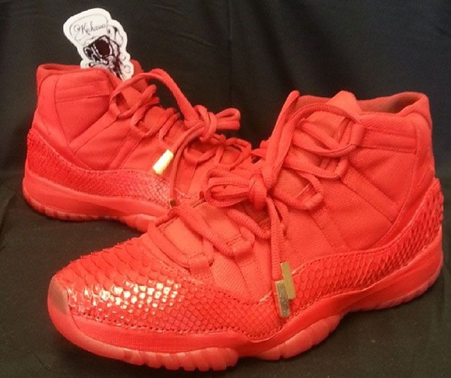 Air Jordan 11 'Red October' Custom