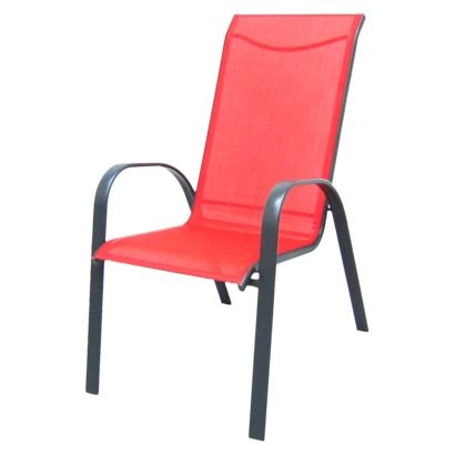 Room Essentials Nicollet Patio Stacking Chair Red Patio