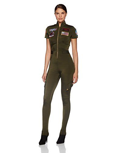 Halloween Costumes Women - Leg Avenue Women s Top Gun Flight Suit Costume 855539b72