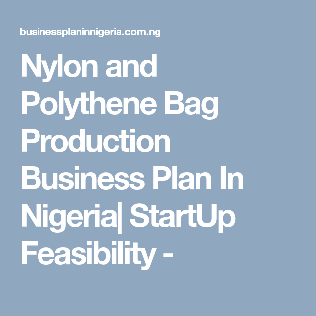 Pin On Business Plan Nigeria