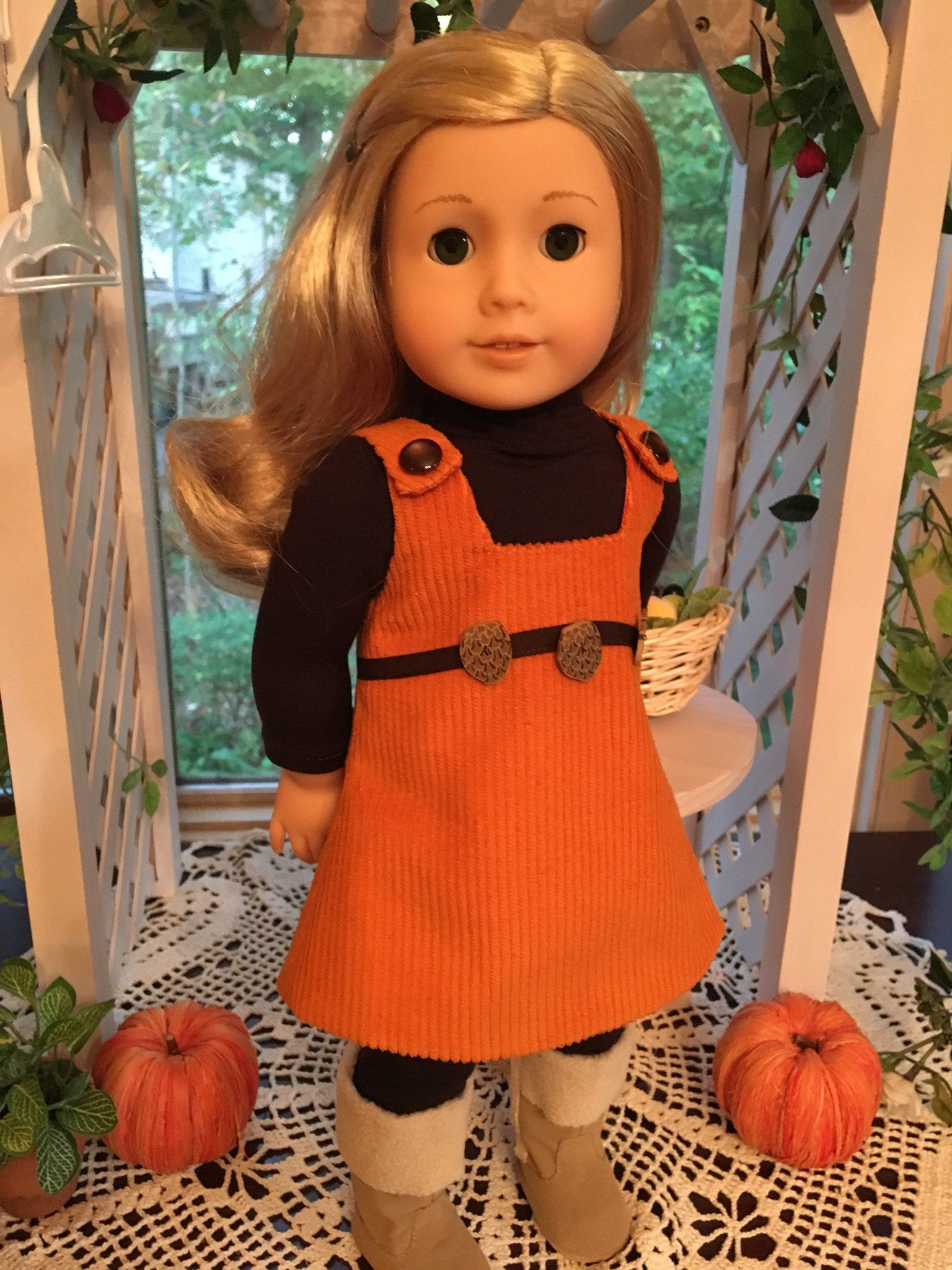 "Pumpkin LOVE Fall Season T-Shirt for 18/"" American Girl Doll Clothes"