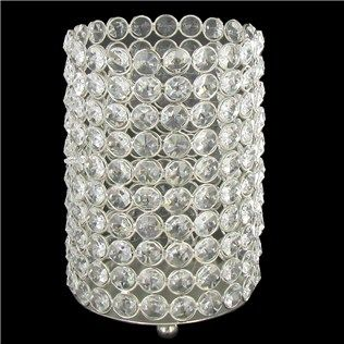 7 Quot Crystal Gem Pillar Candle Holder Shop Hobby Lobby