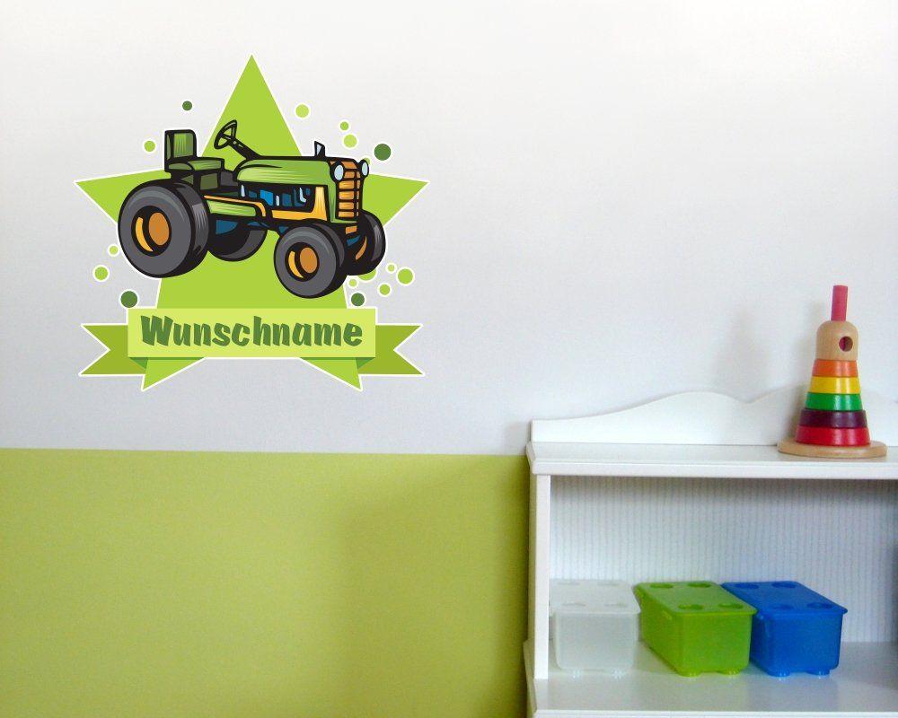 Alter Trecker Wandtattoo Turschild Mit Name Personalisierbar Kinderzimmer Kinder Zimmer Kinderzimmer Turaufkleber