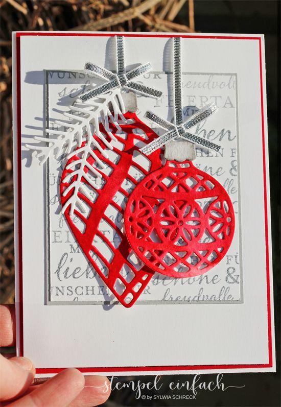 zauberhafte zierde weihnachtskarten selber basteln. Black Bedroom Furniture Sets. Home Design Ideas