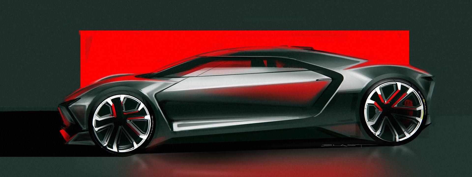 ArtStation - Mid-Engine Car Sketch, Benjamin Last