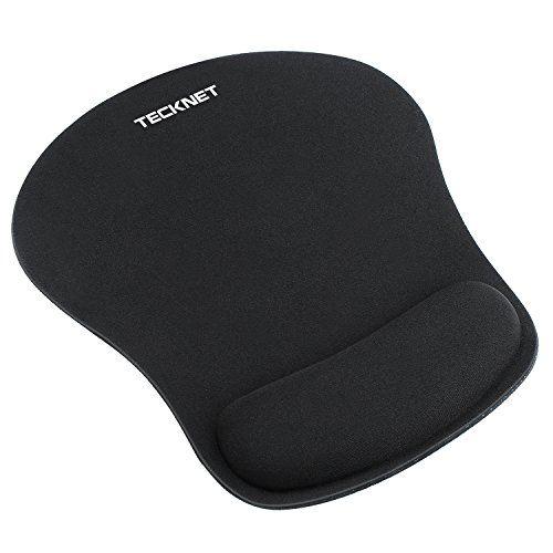 Tecknet Ergonomic Gaming Office Mouse Pad Mat Mousepad With Gel Rest Wrist Support Non Slip Rubber Base Avec Images Tapis De Souris Tapis De Souris Gamer Souris Gamer