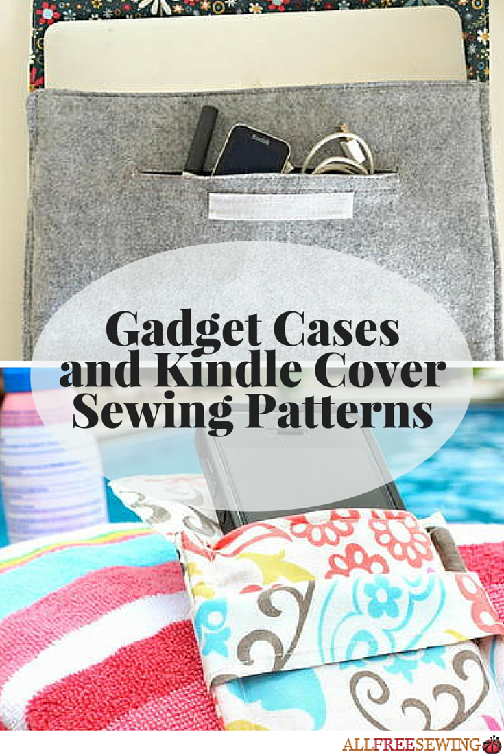40 Gadget Cases and Kindle Cover Sewing Patterns | Nähen