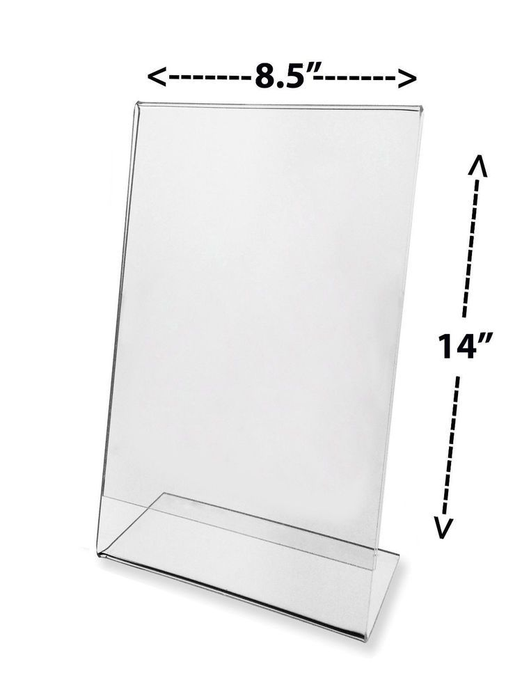 Lot Of 24 Large Sign Ad Frame Stand Desk 8 5 X 14 Holders Display Wholesale Sl814 Sign Display Table Tents Clear Picture Frames