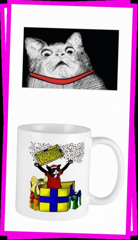 Surprised Cat Gasp Meme  Poster Zazzlecom Surprised Cat Gasp Meme Design Style Poster