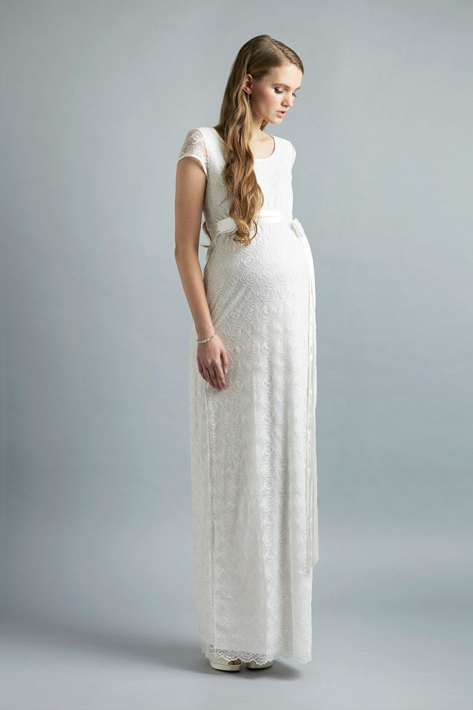 Brautkleid von Sweetbelly Modell Allegra #Babybauch #brautkleid ...