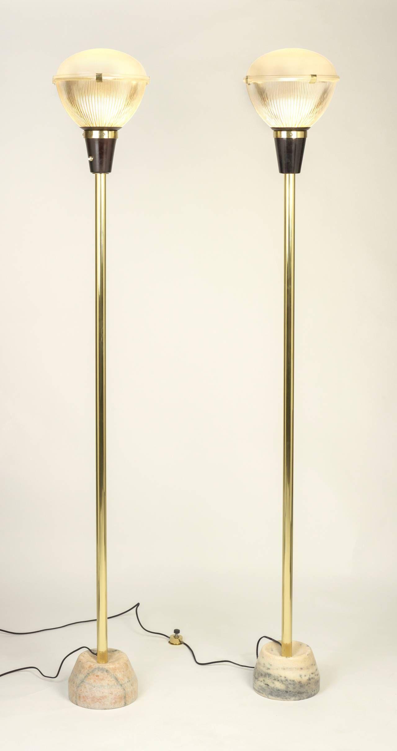 Pair Of Ignazio Gardella Floor Lamps Model Lte 7 From A Unique