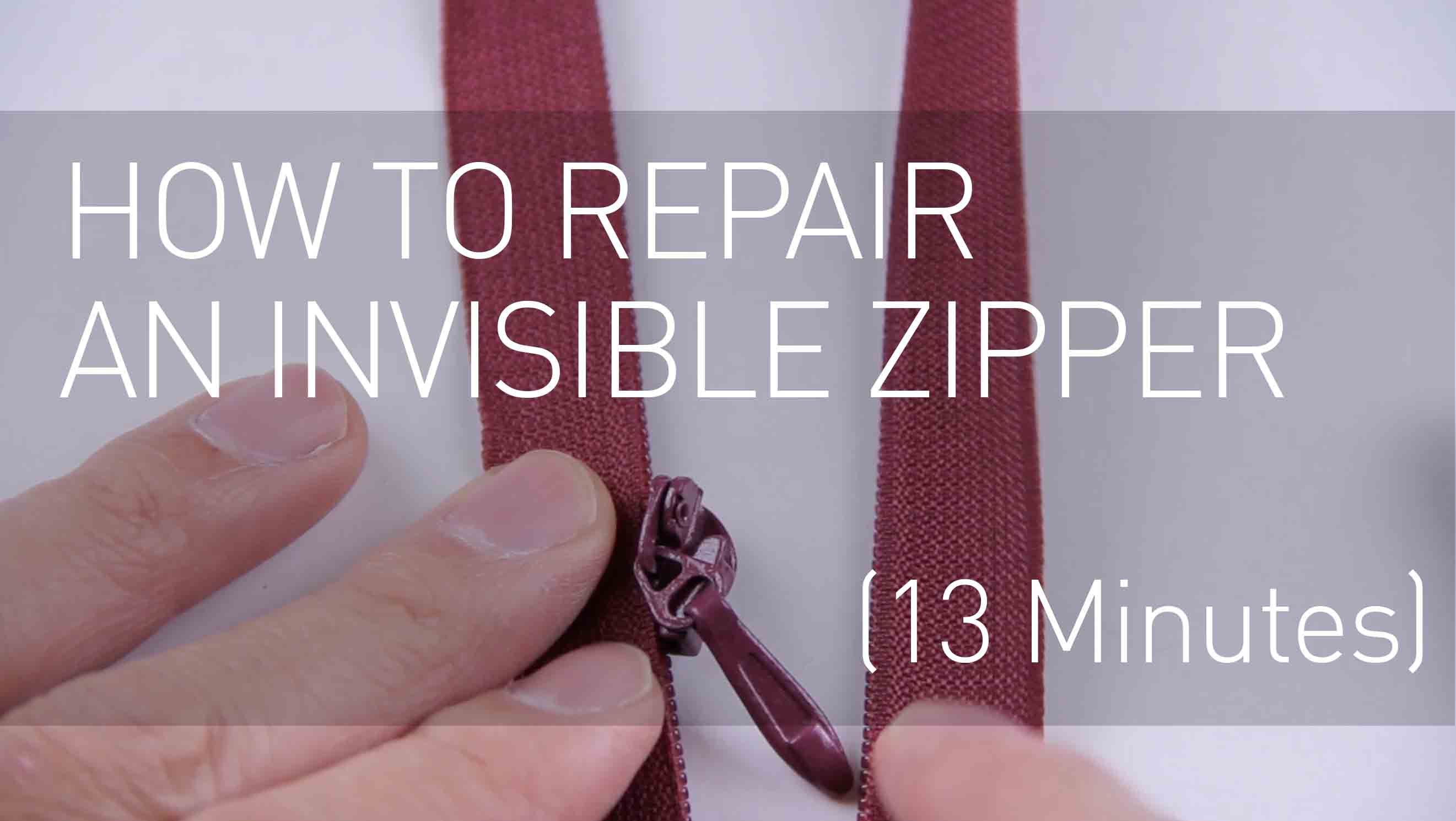 How To Repair An Invisible Zipper Fix