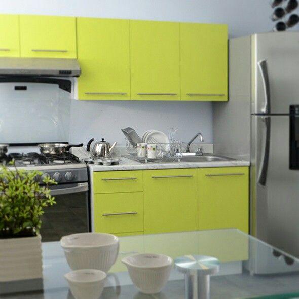 Cocina río verde #color #verde #diseño #interior #decoración ...